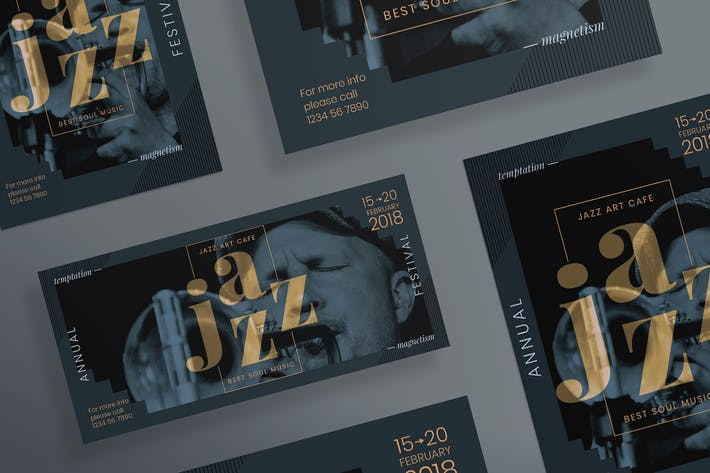 Thumbnail for Jazz Festival Flyer and Poster Template