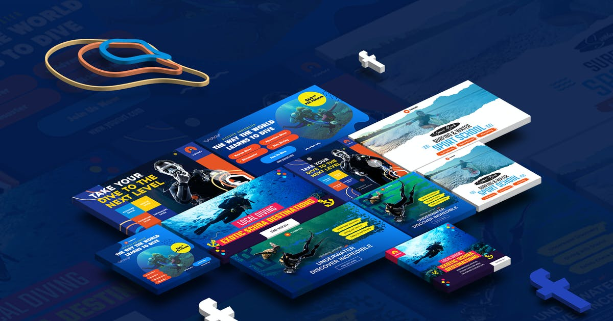 Download Scuba Diving School & Water Sports Facebook Ad by YummyDs