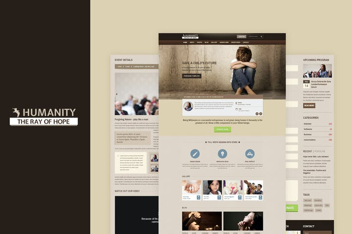 Thumbnail for Humanity | NGO & Charity Responsive HTML Template