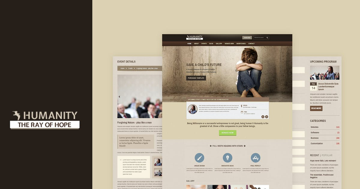 Download Humanity | NGO & Charity Responsive HTML Template by BuddhaThemes