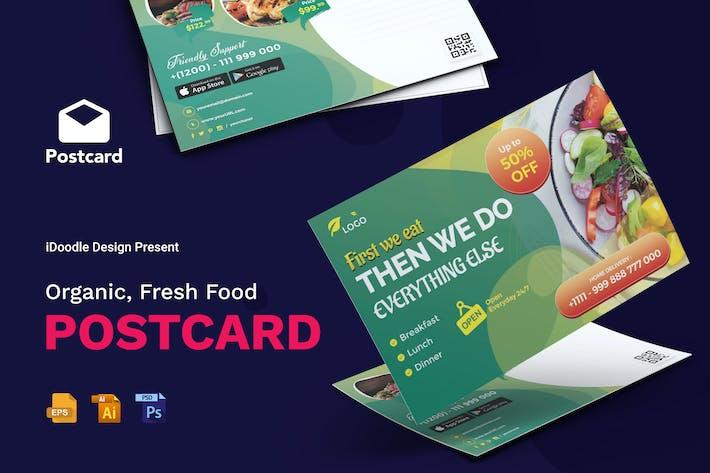 Thumbnail for Organic, Fresh Food Postcard