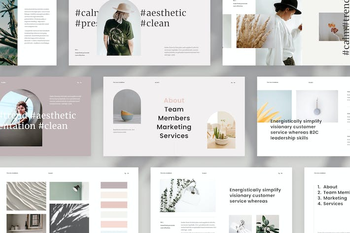 Thumbnail for Clean Minimal Presentation Template