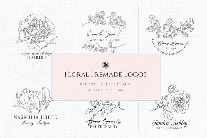 Thumbnail for Floral Premade Logos