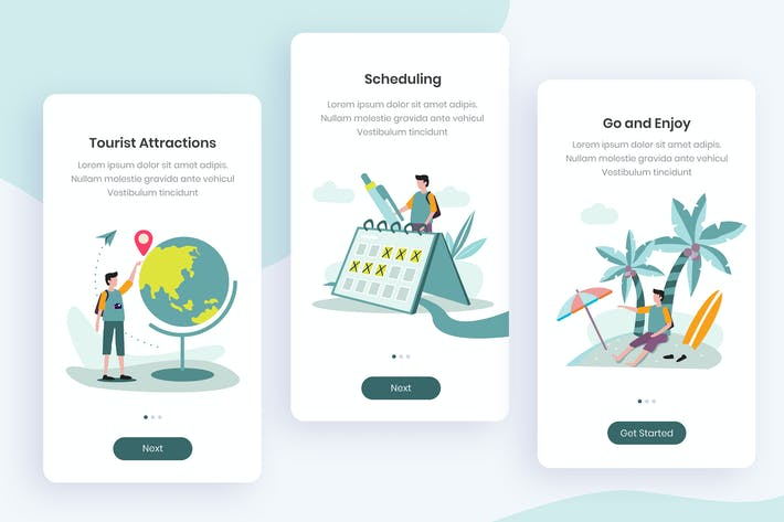 Thumbnail for Travel Onboarding App Screens