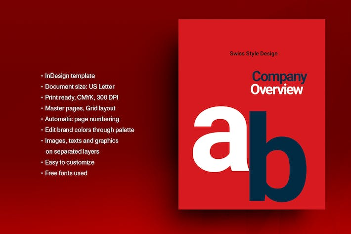 Thumbnail for Swiss Style Brochure Template 02