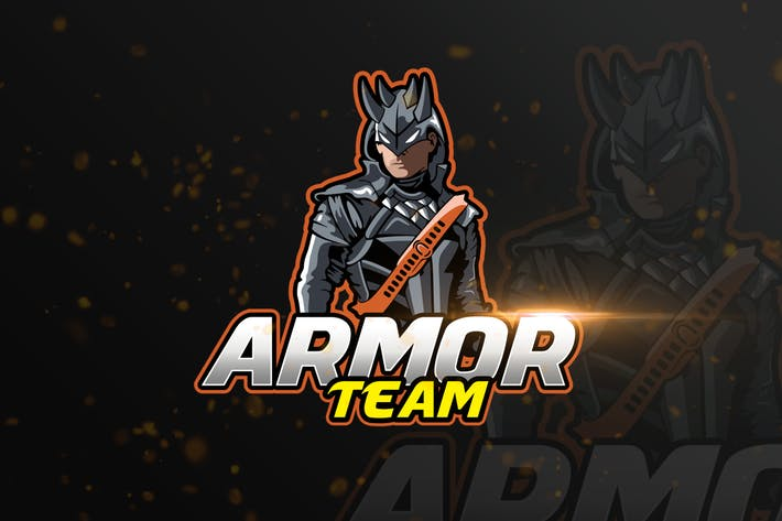 Thumbnail for Armor Mascot & eSports Gaming Logo