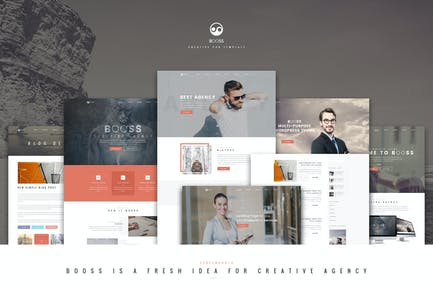 Booss   Kreative Multipurpose Marketing PSD Templa