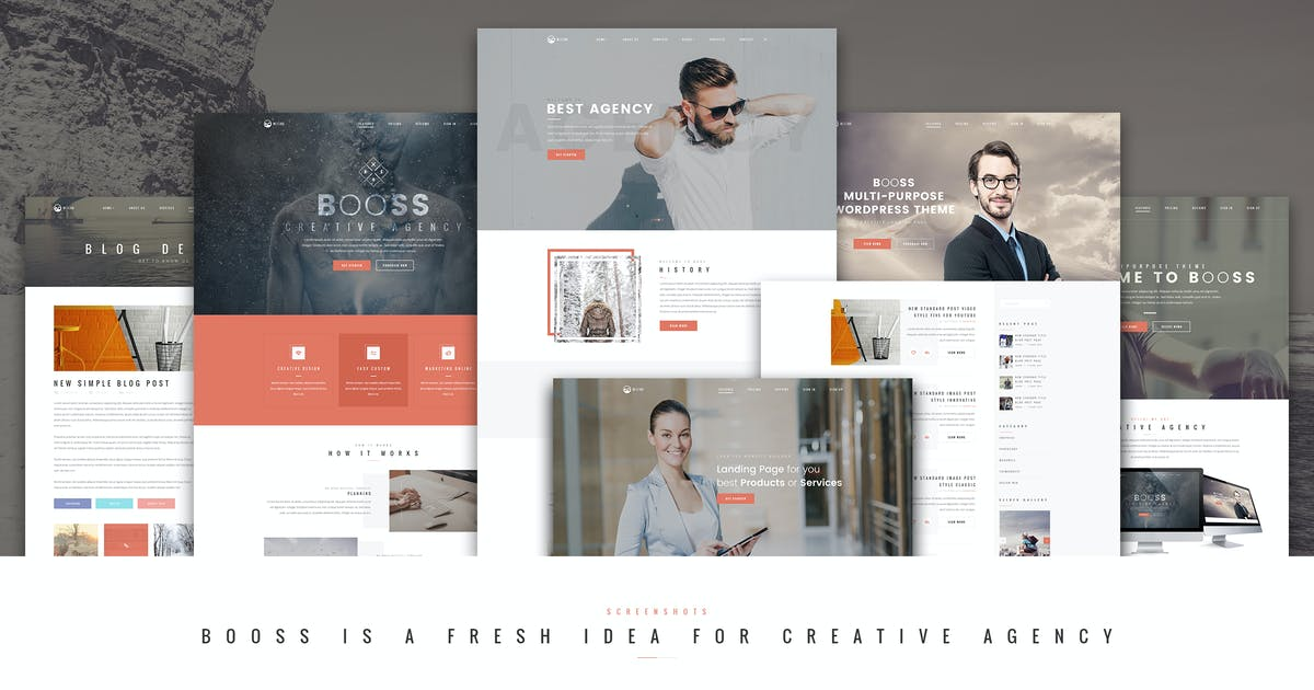 Download Booss   Creative Multipurpose Marketing PSD Templa by TexTheme