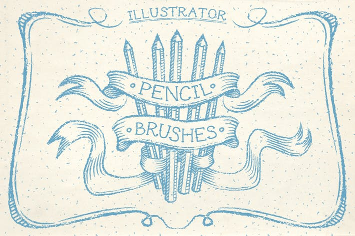 Cover Image For Illustrator Pencil Brushes