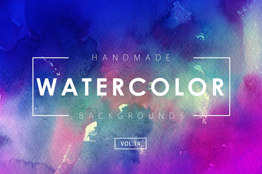 Handmade Watercolor Backgrounds Vol.14