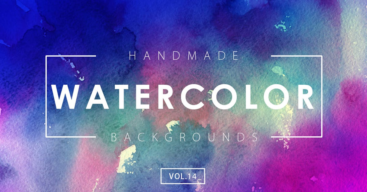 Download Handmade Watercolor Backgrounds Vol.14 by M-e-f