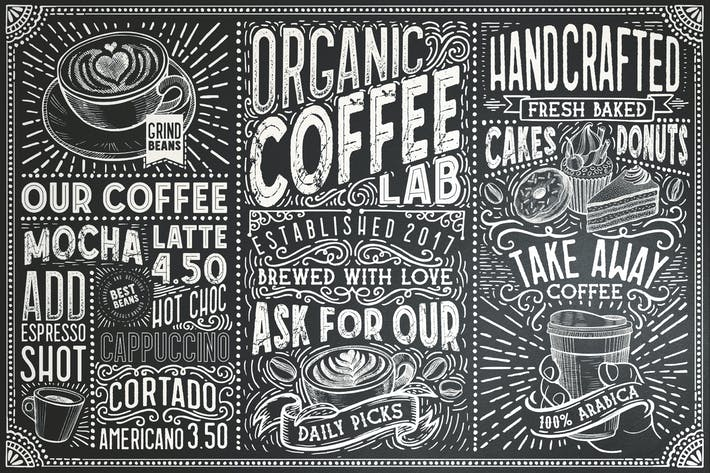 Thumbnail for 15 Fonts Coffee Lab Collection