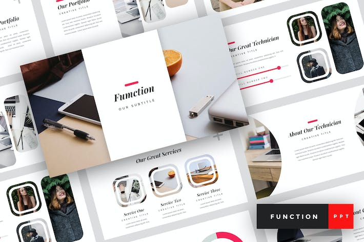 Thumbnail for Function - IT Company PowerPoint Template