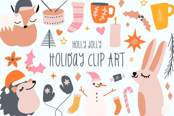 Thumbnail for Holly Jolly Holiday Clip Art