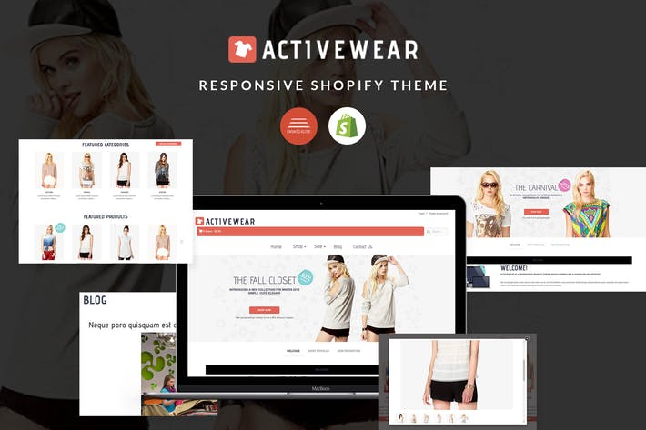 Thumbnail for Responsive Shopify Theme - ActiveWear