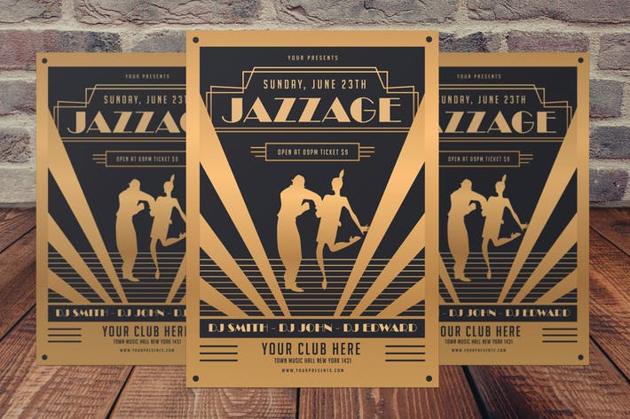 Thumbnail for Jazz Age Party Flyer