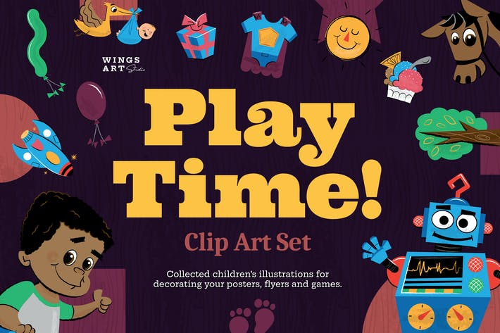 Cover Image For Playtime Clip Art Set
