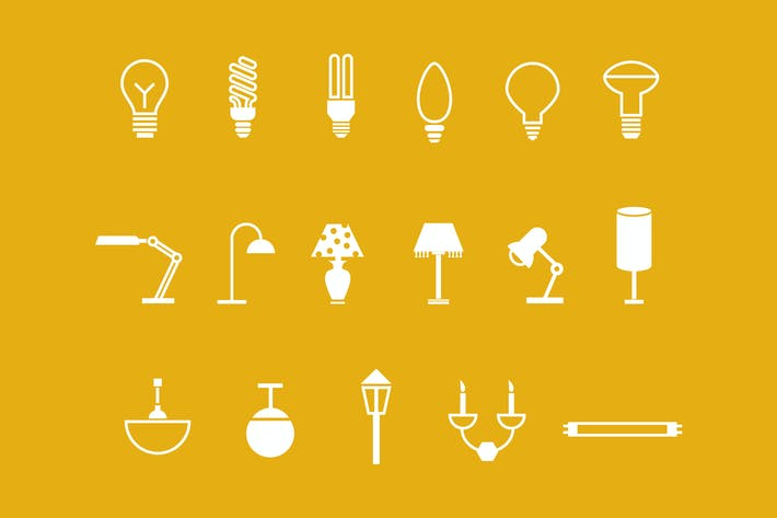 Thumbnail for 18 Lamp and Light Icons