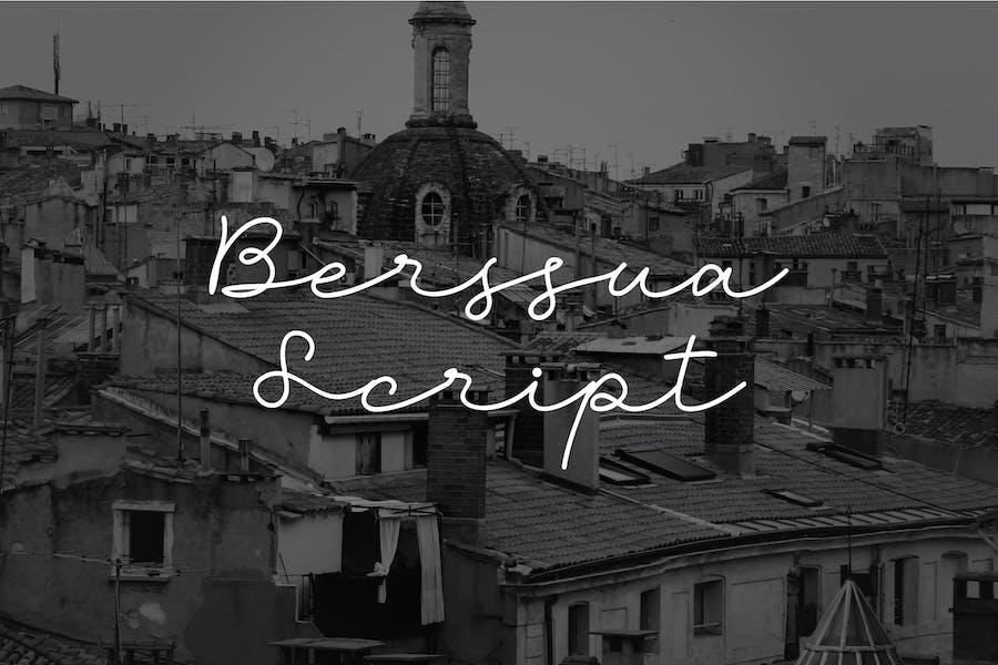 Script Berssua et police manuscrite
