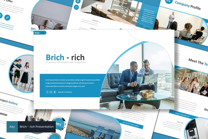 Thumbnail for Brichrich - Business Keynote Template