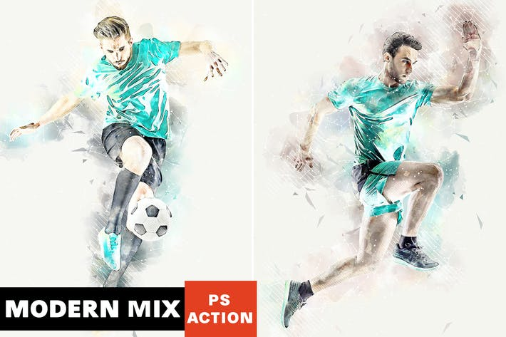 Thumbnail for Modern Mix Photoshop Action