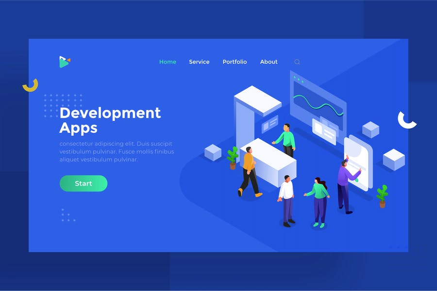 Application Development Illustration for Website