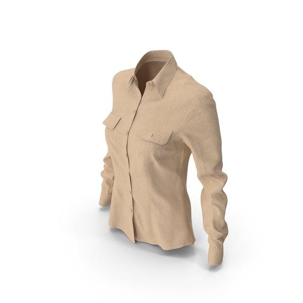 Женская рубашка бежевый