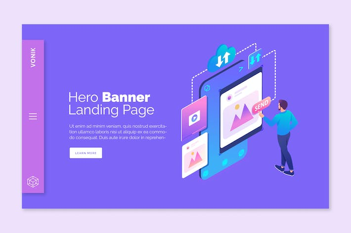 Cover Image For Vonik - Hero Banner Template