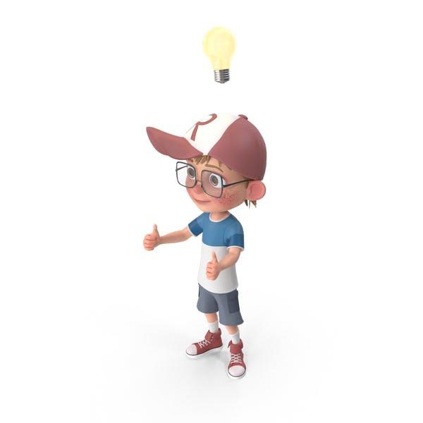 Cover Image for Cartoon Boy Has An Idea