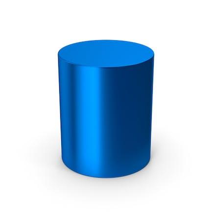 Cylinder Blue Metallic