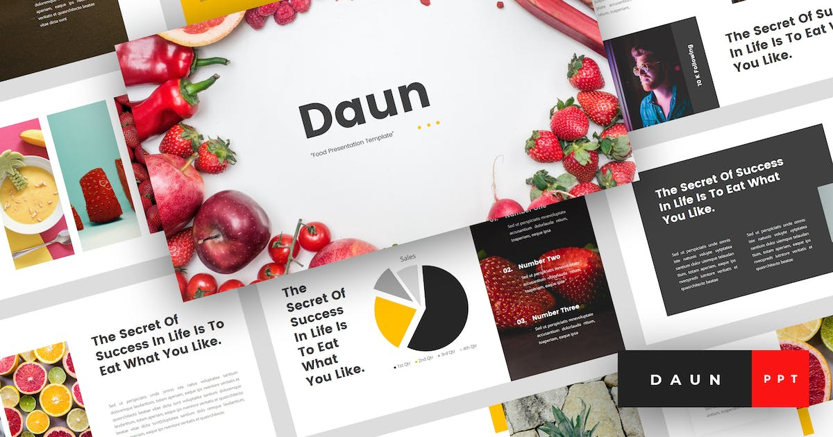 Download Daun - Food PowerPoint Template by StringLabs