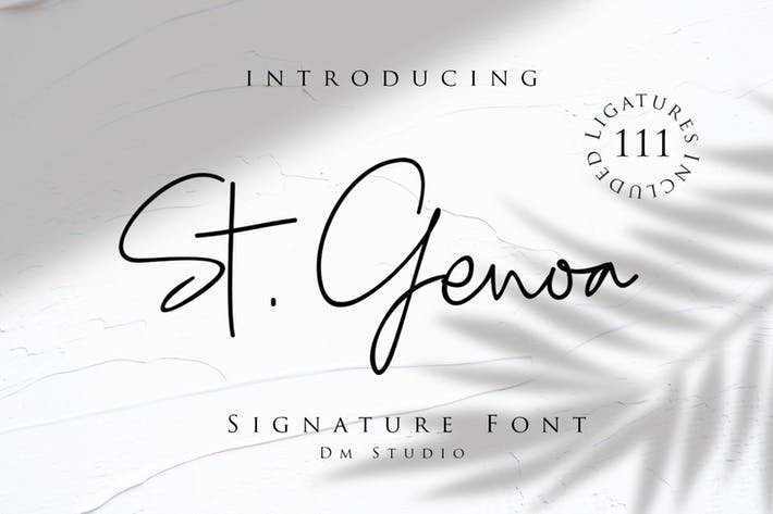 Thumbnail for Santa Génova - Luxury Signature Font