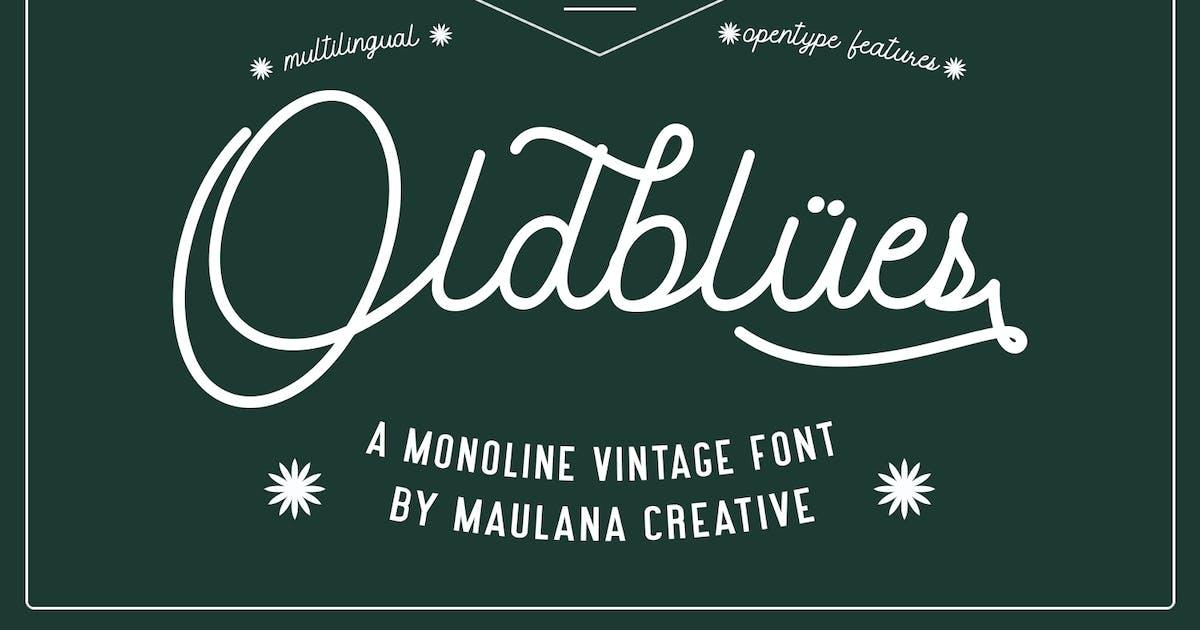 Download Oldblues Monoline Script Vintage Font by maulanacreative