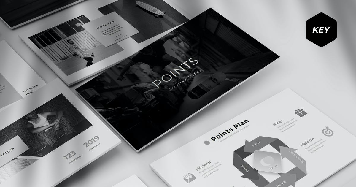 Download Points - Keynote Template by aqrstudio