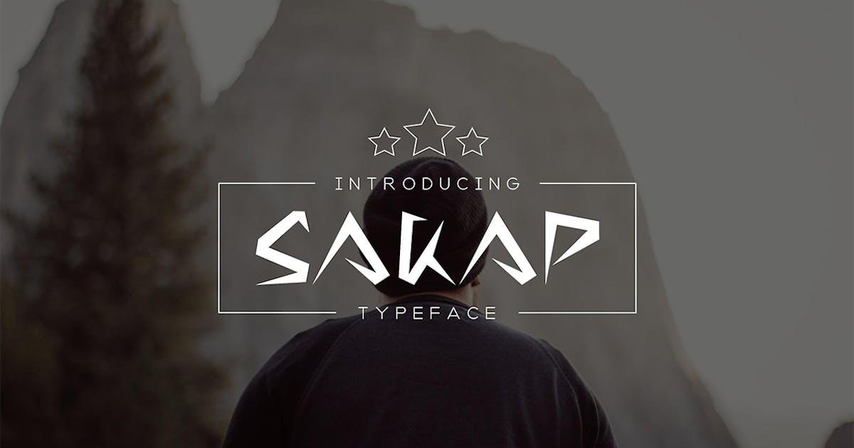 Download Sakap Typeface Font by sameehmedia