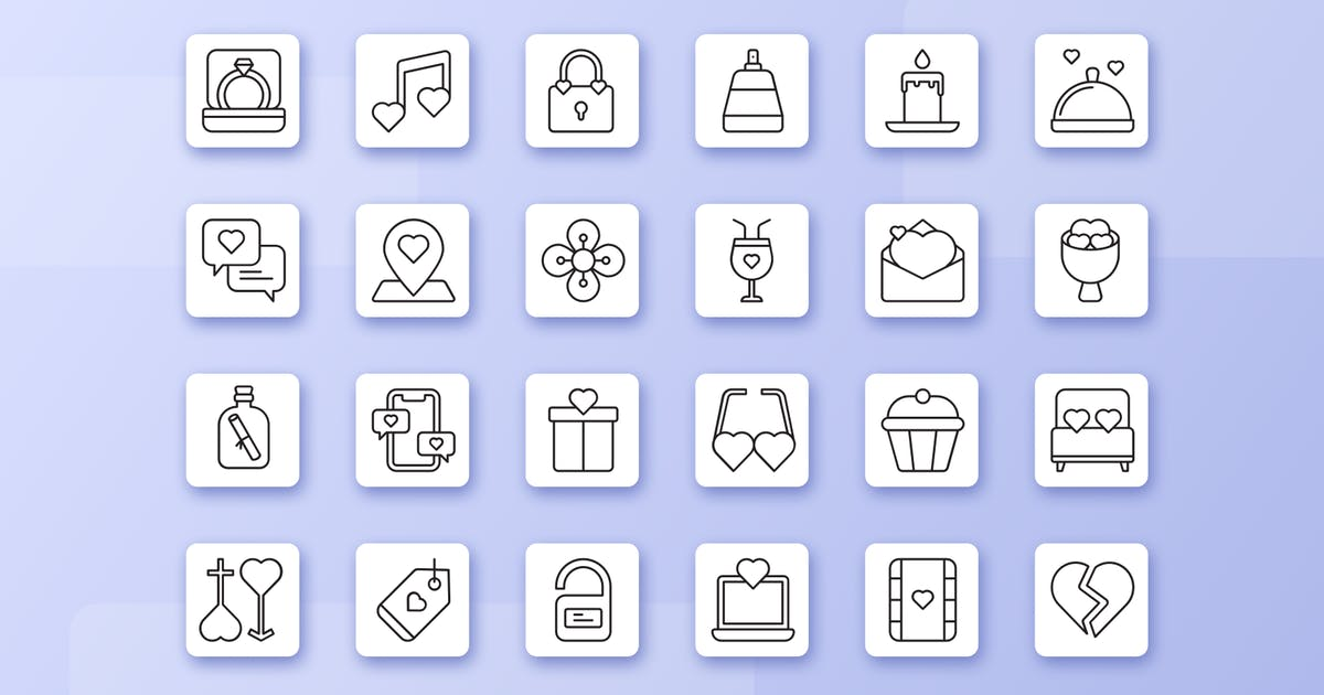 Download Valentine Romance Love Icon Line by usedesignspace