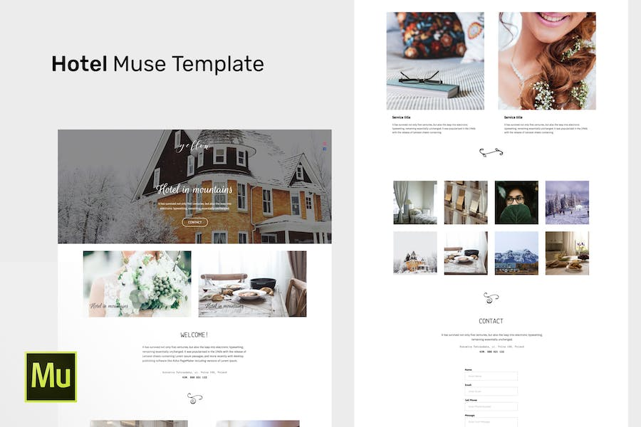 Hotel - Adobe Muse CC Responsive Template - product preview 0