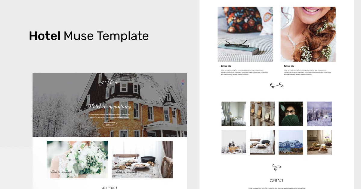 Download Hotel - Adobe Muse CC Responsive Template by roseathemes