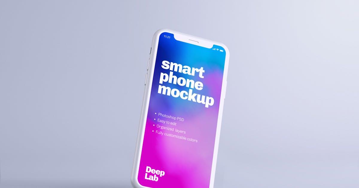 Download iPhone 11 Pro Clay Mockup by deeplabstudio