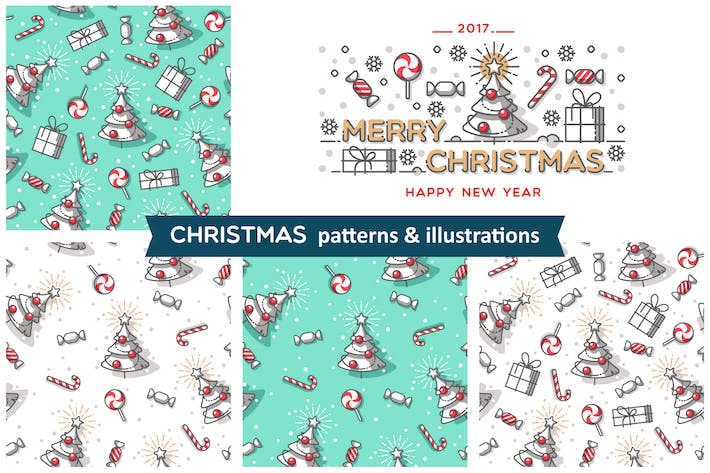 Thumbnail for Christmas  patterns & illustrations