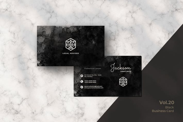 Thumbnail for Black Business Card. 20