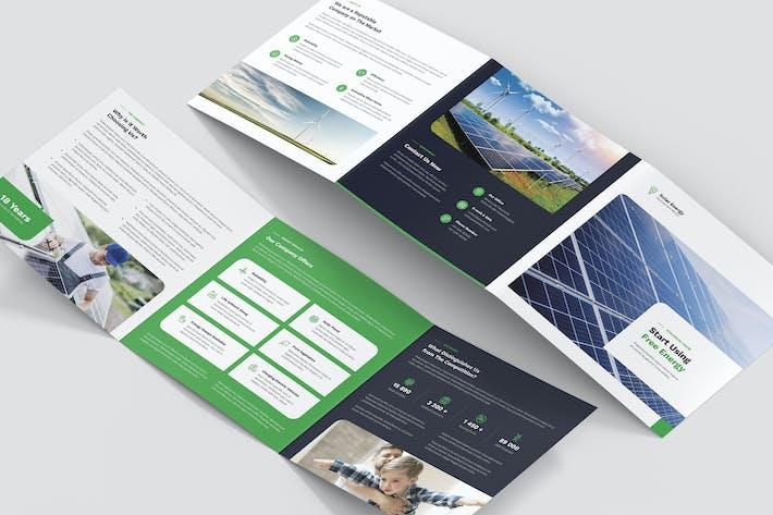 Thumbnail for Brochure – Solar Energy Tri-Fold Square