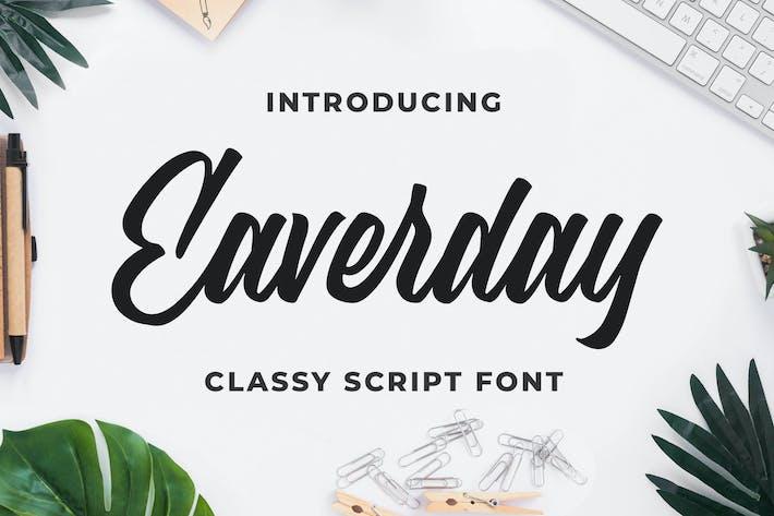 Thumbnail for Eaverday - Tipo de letra de secuencia de comandos con clase
