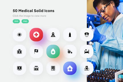 Medical Solid Icons