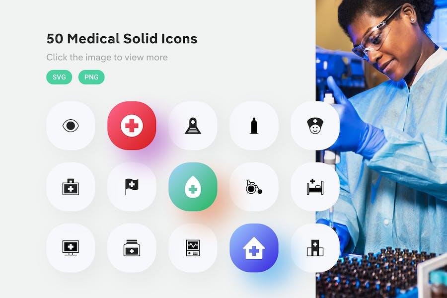 Medizinische Feste Icons