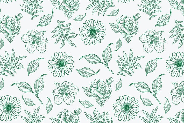 Thumbnail for motif Vecteur de fleurs et de feuilles