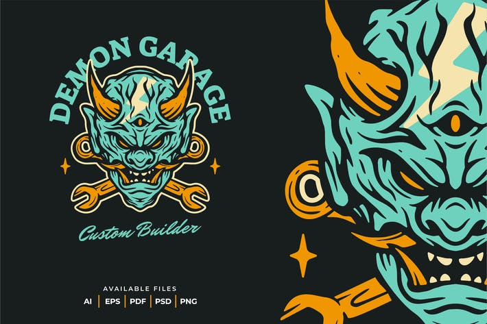 Thumbnail for Demon Garage Logo Design