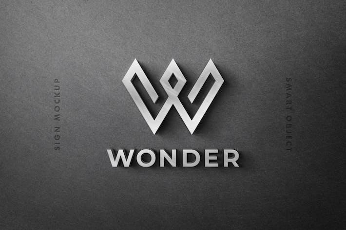 Thumbnail for 3D Sign: Logo Mockup Scene