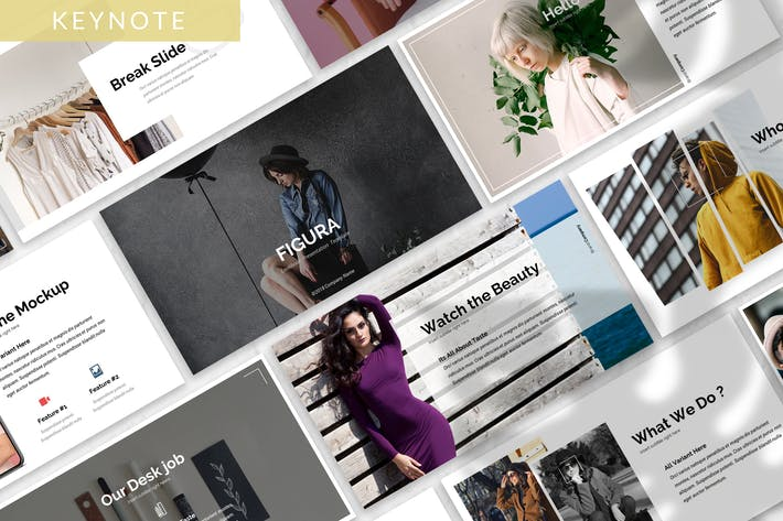 Thumbnail for Figura - Fashion Keynote Template