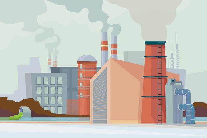 Thumbnail for Factory - Illustration Background